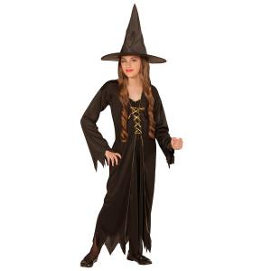 Costume Halloween Bimba e Ragazza, Vestito Strega Nero | pelusciamo.com