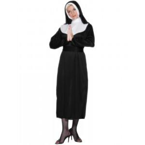 Costumi di carnevale Costume Donna Suora Tonaca copricapo e velo *07406