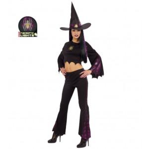 Costume Halloween Ragazza, Vestito Strega Luminoso | pelusciamo.com