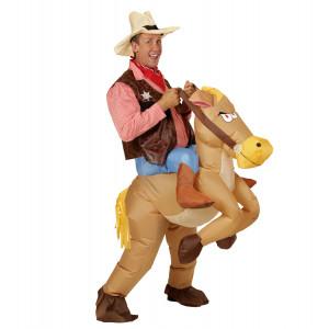 Costume Carnevale Adulto Autogonfiante, Sceriffo con Cavallo PS 22726 Pelusciamo Store Marchirolo