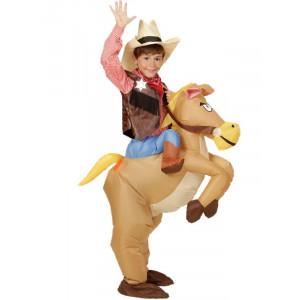 Costume carnevale bambino , cowboy a cavallo Gonfiabile *01794