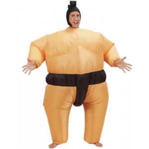 Costume Carnevale Adulto Autogonfiante, Lottatore Sumo     pelusciamo.com
