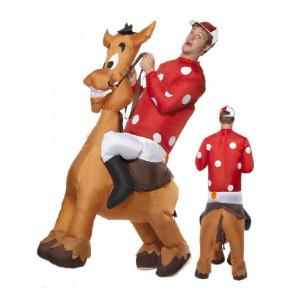Costume Carnevale Adulto Fantino a Cavallo Animale Autogonfiante *12231