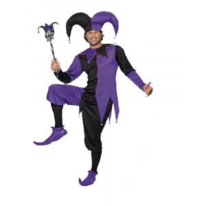 Costume Carnevale Adulto travestimento Giullare di corte *09909 Smiffy's