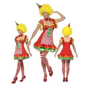 Costume Carnevale Donna Pagliaccio travestimento Clown smiffys *17583 pelusciamo.com