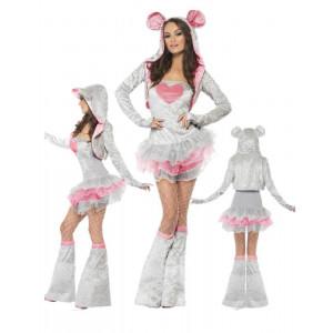 Costume Carnevale Donna Tutu' Topolina mouse smiffys 22796 *17528