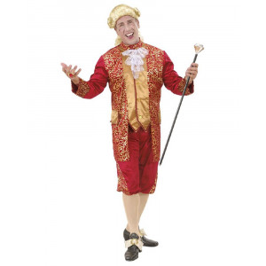Costume Carnevale Uomo Marchese in Velluto Bordeaux PS 26276 Pelusciamo Store Marchirolo