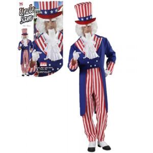 Costume Carnevale uomo travestimento Zio Sam frac pantaloni cappello *20120 pelusciamo store