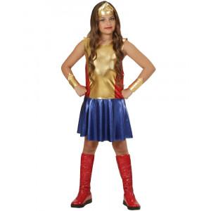 Costume Carnevale Wonderl Girl Super Eroina PS 25798 Costumi Bambina Pelusciamo Store Marchirolo
