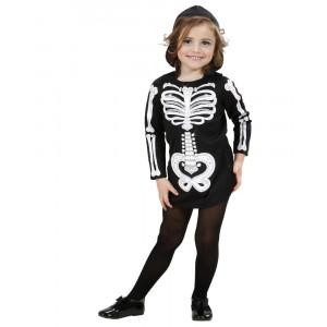 Costume Scheletro Halloween Travestimento Bambina PS 25608 Pelusciamo Store Marchirolo