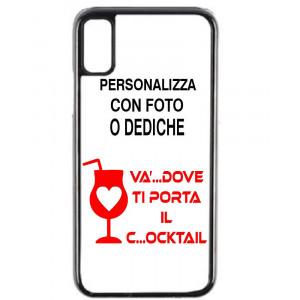 Cover Iphone X FLEXI Trasparente Personalizzabile Con Foto o Dediche PS 10601