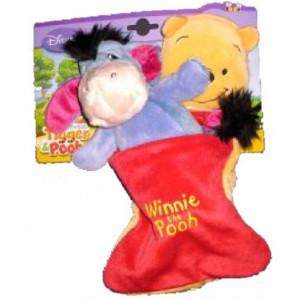 Peluche Eeyore nel sacco a pelo di serie Winnie the pooh 30 cm *03834