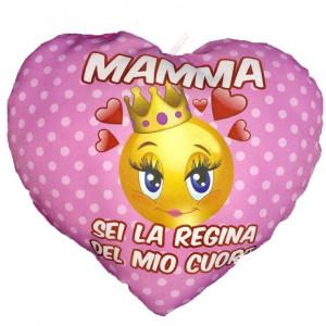 Cuscino Cuore Festa Della Mamma Sei La Regina Del Mio Cuore PS 05902 pelusciamo store