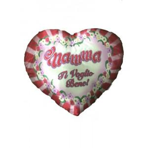 Cuscino Cuore Festa Della Mamma Ti Voglio Bene Fiori | pelusciamo store