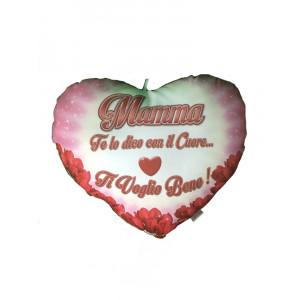 Cuscino Cuore Festa Della Mamma Ti Voglio Bene Tulipani | pelusciamo store