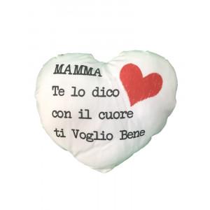 Cuscino Cuore Festa Della Mamma Ti Voglio Bene | pelusciamo store