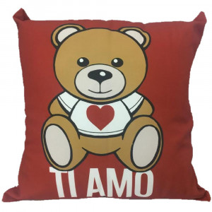 Cuscino orsetto Teddy Love ti amo regalo x san valentino 45x45 cm 04903 pelusciamo store