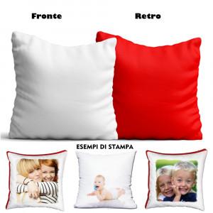 Cuscino Personalizzabile Bicolore 40x40 cm  |  Pelusciamo Store Marchirolo