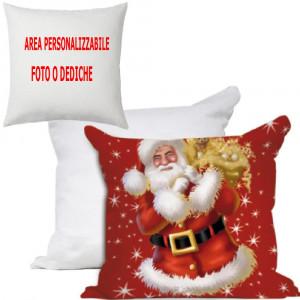Cuscino Natalizio Babbo Natale Personalizzabile 40x40 PS 10599 Gadget Personalizzato Pelusciamo Store Marchirolo