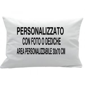 Cuscino Personalizzabile Bianco 50x80 cm PS 10890 Gadget Personalizzato