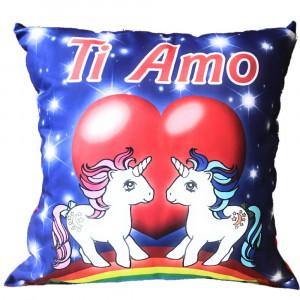 Cuscino Unicorno Ti Amo Regalo x San Valentino 45x45 Cm PS 26423 Pelusciamo Store Marchirolo