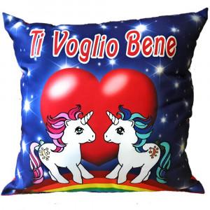 Cuscino Unicorno Ti Voglio Bene San Valentino 45x45 Cm PS 26427 Pelusciamo Store Marchirolo