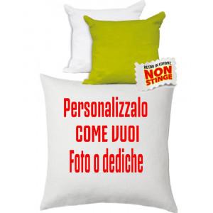Cuscino Personalizzabile Bicolore Bianco Lime 40x40 cm PS 10750 Gadget Personalizzato Pelusciamo Store Marchirolo