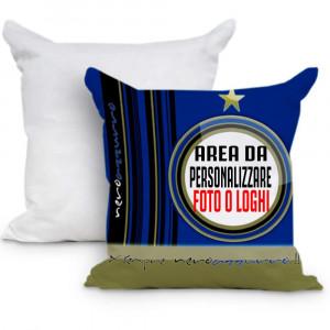 Cuscino Tifoso Sempre Neroazzurro 40x40 cm Personalizzabile Foto o Frasi PS 10598 Gadget Personalizzato Pelusciamo Store Marchirolo
