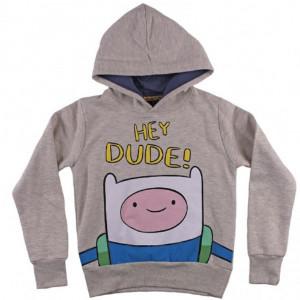 Felpa Bimbo con Cappuccio Adventure Time cotone felpato  *03569 pelusciamo store