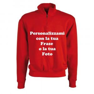 Felpa Rossa 1/2 Zip Personalizzabile Come Vuoi