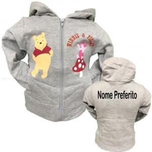 Felpa Con Cappuccio Disney Winnie the Pooh e Piglet PS 13641Con Nome