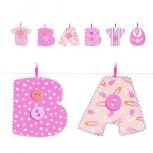 Festone Banner Rosa  Nascita Bimba  Baby Shower *05202 | Pelusciamo.com