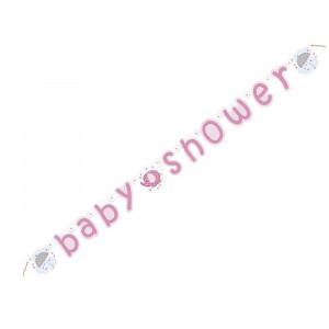 Banner in Carta , Baby Shower Nascita Bimba | Pelusciamo.com