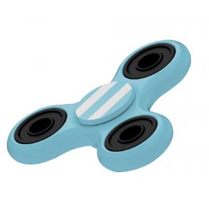 Fidget Spinner Bianco Celeste Gioco Antistress 3D 07072 PELUSCIAMO STORE