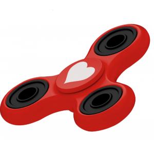 Fidget Spinner Cuore Rosso Gioco Antistress 3D 07079 PELUSCIAMO STORE