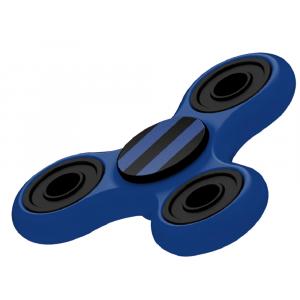 Fidget Spinner Nero Azzurro Gioco Antistress 3D 07075 PELUSCIAMO STORE