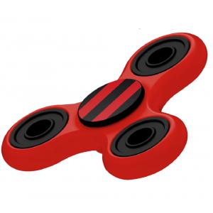 Fidget Spinner Rosso E Nero Gioco Antistress 3D 07074 PELUSCIAMO STORE