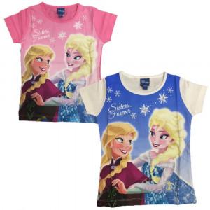 Maglietta Maniche Corte Disney Frozen,  T-Shirt Anna e Elsa| Pelusciamo.com