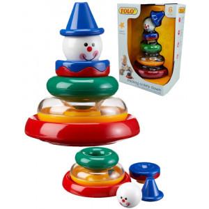 Gioco prima infanzia clown smontabile Tolo Toys *02885 pelusciamo store