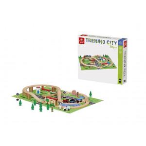 Giochi In Legno Trenino City 50 Pezzi PS 07865 Gioco Per Bambini Pelusciamo Store Marchirolo