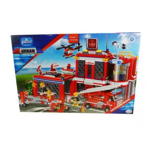Stazione dei pompieri costruzioni Prico' 702 pezzi 5 personaggi *02425