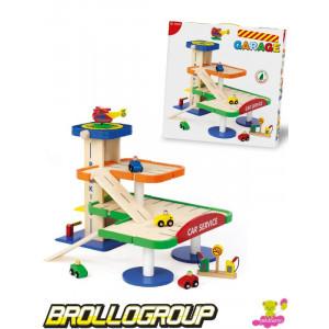 Gioco in legno garage multipiano giochi Dal Negro 055681 *00383 | Pelusciamo.com