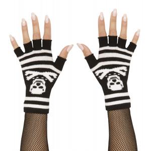 Guanti senza dita con teschio Accessori costume carnevale halloween *02356 | pelusciamo.com