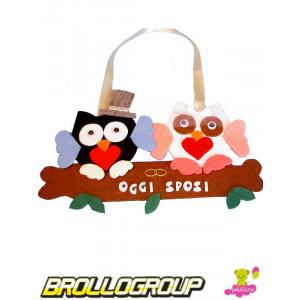 Gadget Festa matrimonio, Gufi Oggi Sposi | Pelusciamo.com