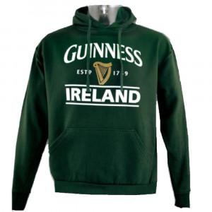 Guinness Beer Felpa Con Cappuccio Adulto Ireland Green PS 15759 Pelusciamo Store Marchirolo