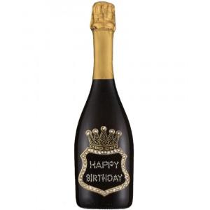 Bottiglia Di Prosecco Extra Dry 0.75 ML. Personalizzata Happy Birthday PS 27266