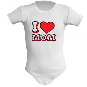 Body Neonato I Love Mom Abbigliamento Prima Infanzia PS 28180-3 pelusciamo store