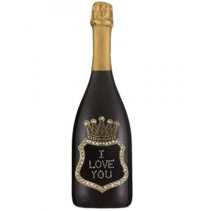 Bottiglia Di Prosecco Extra Dry 0.75 ML. Personalizzata I Love You PS 27264