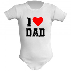 Body Neonato I Love My Dad Abbigliamento Prima Infanzia PS 28180-2 pelusciamo store