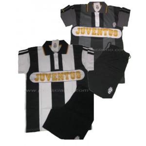Pigiama Juventus Fc Maglietta polo + pantaloncini, abbigliamento ufficiale 04993
